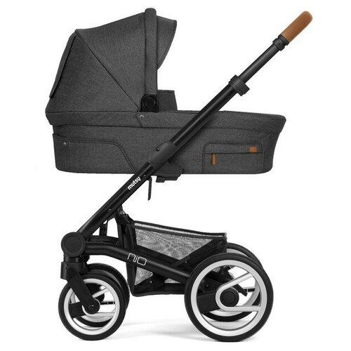 Фото - Универсальная коляска Mutsy Nio North (2 в 1), grey/cognac grip black, цвет шасси: черный универсальная коляска indigo charlotte duo 2 в 1 ch31 цвет шасси черный