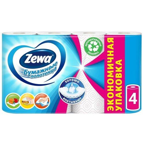 Полотенца бумажные Zewa Декор двухслойные, 4 рул.