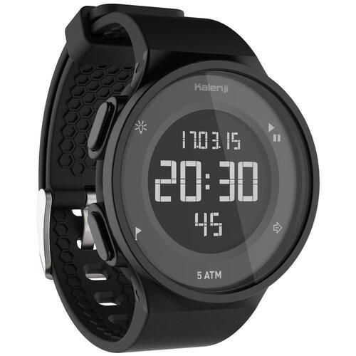 Часы-секундомер для бега W500 M черные, цвет: Черный KALENJI Х Декатлон