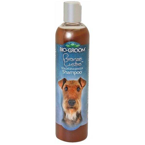Шампунь -ополаскиватель Bio-Groom Bronze Lustre оттеночный для собак коричневого окраса 355 мл шампунь bio groom super white для собак белого и светлых окрасов 355 мл