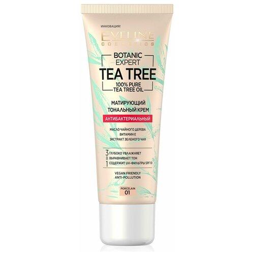 Купить Eveline Cosmetics Тональный крем Botanic Expert Tea Tree, 30 мл, оттенок: 01 Porcelain