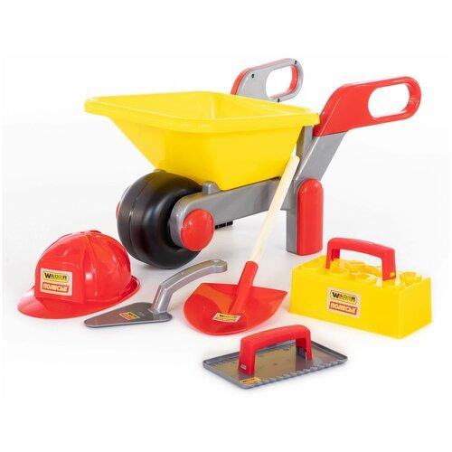 Купить Полесье Тачка №4 Construct + набор каменщика №4 Construct (50229), Детские наборы инструментов
