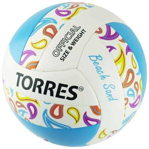 Мяч волейбольный TORRES BEACH SAND BLUE, р.5 V32095B