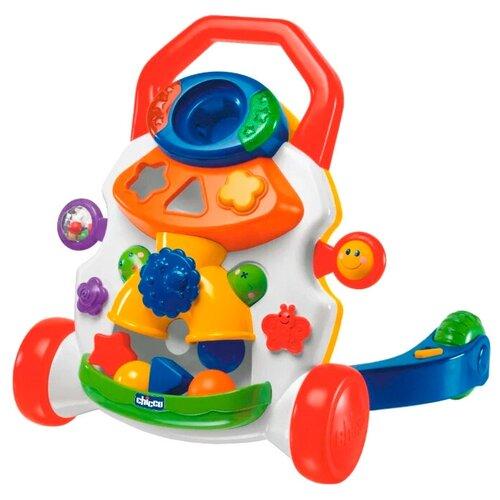 каталка ходунки chicco walky talky цвет оранжевый Каталка-ходунки Chicco Игровой центр (65261) синий/белый/красный
