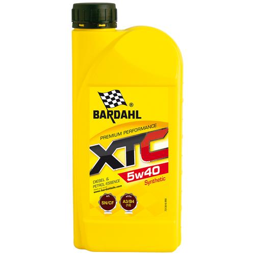 Синтетическое моторное масло Bardahl XTC 5W-40 Sn/Cf, 1 л полусинтетическое моторное масло bardahl xtc 10w 40 sl cf 4 л
