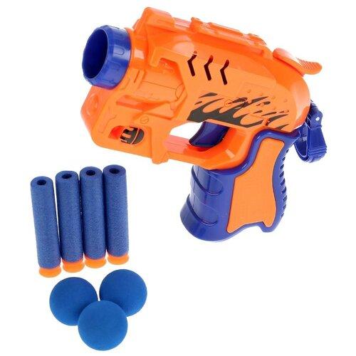 Фото - Бластер с мягкими пулями и шариками, Играем вместе игрушечное оружие играем вместе бластер стреляющий шариками по кеглям