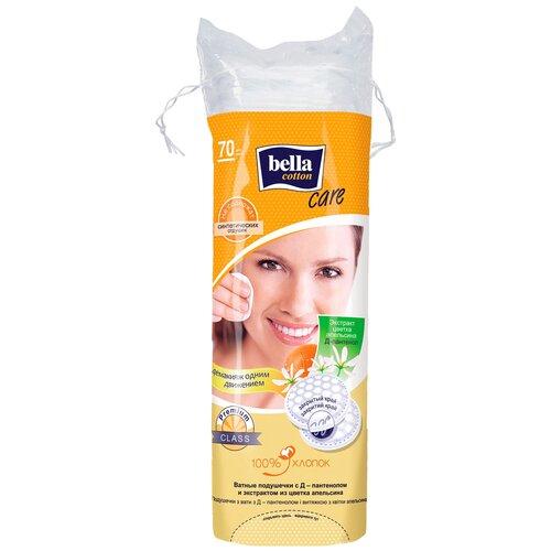 Ватные подушечки Bella Cotton Care с Д-пантенолом и экстрактом из цветка апельсина, 70 шт.