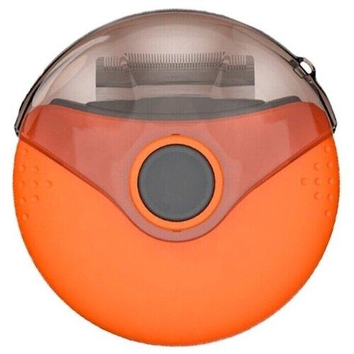 Мультигрумер 3в1 STEFAN (дешеддер, колтунорез, гребень противоблошиный), оранжевый / расческа для кошек / расческа для собак / щетка для животных / пуходерка / фурминатор