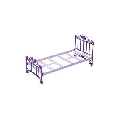 Купить Кроватка фиолетовая без постельного белья Огонек С-1424, ОГОНЁК, Мебель для кукол
