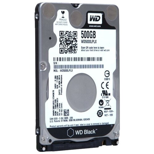 Жесткий диск Western Digital WD Black 500 GB WD5000LPLX black