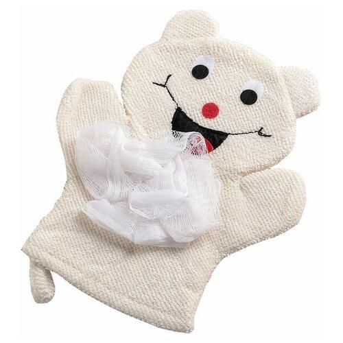 Фото - Мочалка «Доляна» Радость (4442511) белый мочалка доляна медвежонок 4442512 коричневый красный