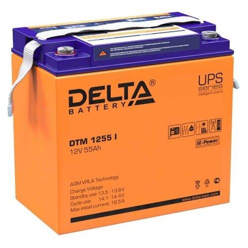 Аккумуляторная батарея DELTA Battery DTM 1255 I 55 А·ч аккумуляторная батарея delta battery dtm 12250 i 250 а·ч