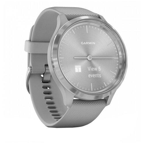 Умные часы Garmin Vivomove 3, серый/серебристый умные часы garmin vivomove luxe с кожаным ремешком черный золотистый