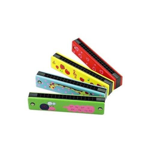 Купить Музыкальный инструмент: Губная гармошка деревянная, 13 см Shantoy Gepay 200520106, Наша игрушка, Детские музыкальные инструменты