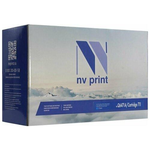 Фото - Картридж NV Print Q6471A/711 Cyan для НР и Canon, совместимый картридж nv print q6473a 711 magenta для hp и canon совместимый