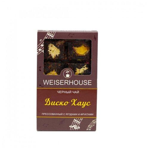 Фото - Чай Weiserhouse Диско Хаус, чёрный прессованный с добавками, плитка, 75 гр чай чёрный вселенная прессованный блин 75 г