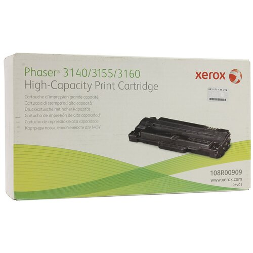 Фото - Картридж Xerox 108R00909 картридж xerox 108r00909 108r00909 108r00909 108r00909 108r00909 108r00909 для для phaser 3140 3155 3160 2500стр черный