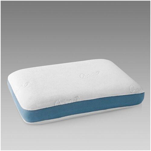 Подушка Togas ортопедическая Аквариус 37 х 54 см белый/синий