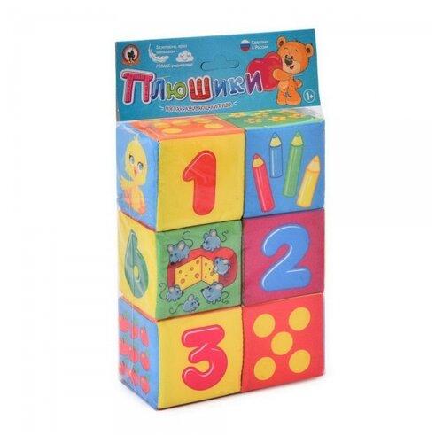 Купить Кубики Русский Стиль Плюшики мягкие для малышей Веселая математика 7х7 см, Русский стиль, Детские кубики