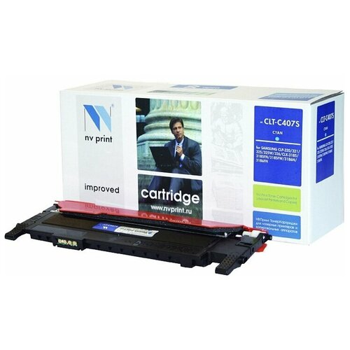 Картридж NV Print CLT-C407S для Samsung, совместимый картридж nv print clt m406s для samsung совместимый