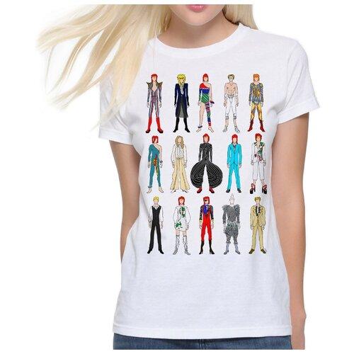 Футболка Dream Shirts Образы Дэвида Боуи Женская 2XL Белая