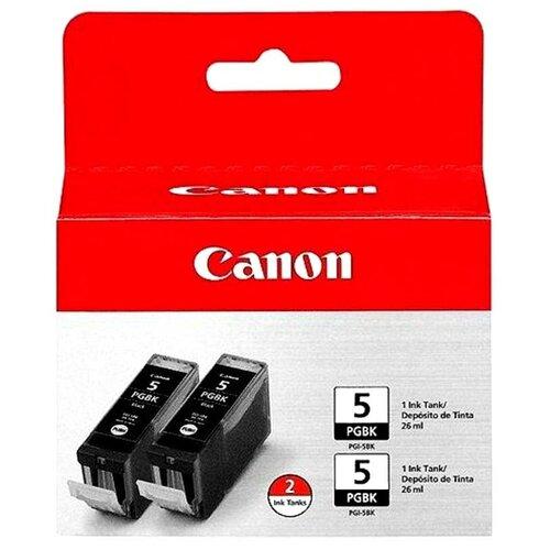 Фото - Набор картриджей Canon PGI-5BK Twin Pack (0628B030) набор картриджей canon 718bk vp 2662b005