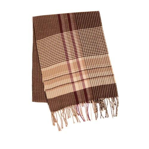 Шарф мужской Finn Flare, цвет: коричневый A20-21419_611, размер: Единый