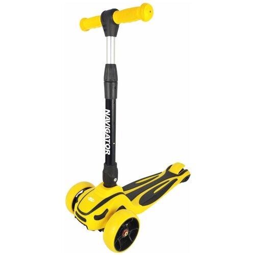 детский скейтборд navigator т20013 синий желтый Детский кикборд Navigator Т17063/Т17064, желтый
