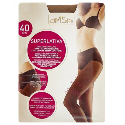 Колготки Omsa SuperLativa, 40 den, размер 2-S, caramello (бежевый) колготки omsa beauty slim 40 den размер 2 s caramello бежевый