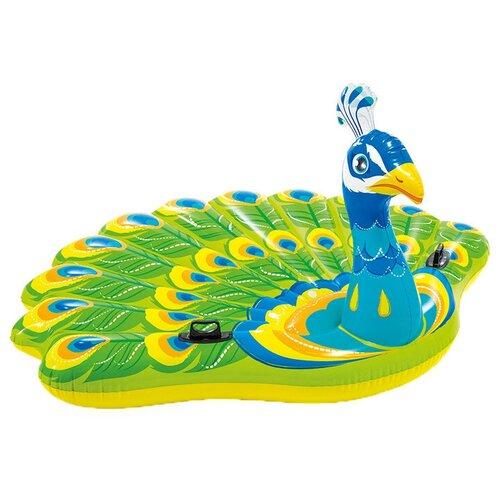 Игрушка Intex Павлин 163x193 см зеленый/голубой