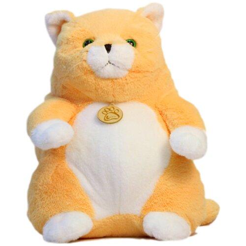 Купить Мягкая игрушка Толстый кот 20см персиковый, Lapkin, Мягкие игрушки