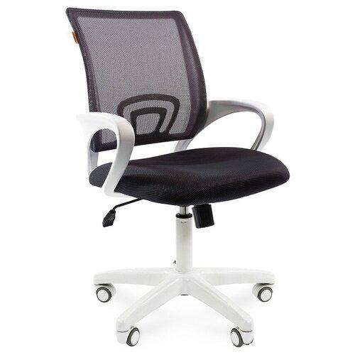 Компьютерное кресло Chairman 696 офисное, обивка: текстиль, цвет: белый/черный/серый недорого