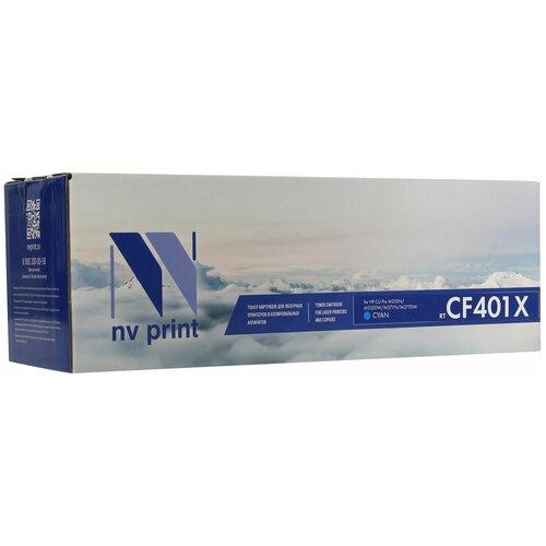 Фото - Картридж NV Print CF401X для HP, совместимый картридж nv print ce412a для hp совместимый