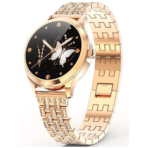 Умные часы LEMFO LW07 Crystal Series, золотистый
