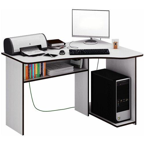 Фото - Компьютерный стол угловой MfMaster Триан-1, ШхГ: 120х90 см, угол: справа, цвет: белый правый стол компьютерный триан 1