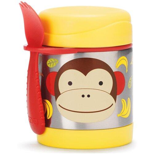 Термос для еды SKIP HOP Zoo Monkey Marshall, 0.325 л желтый