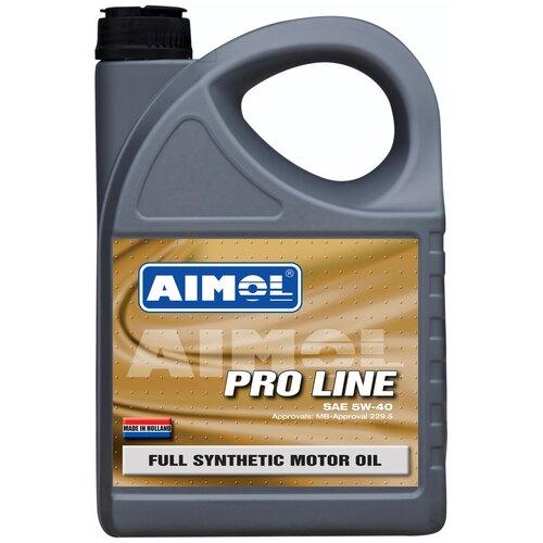 Полусинтетическое моторное масло Aimol Pro Line 5W-40, 4 л полусинтетическое моторное масло aimol streetline 10w 40 1 л