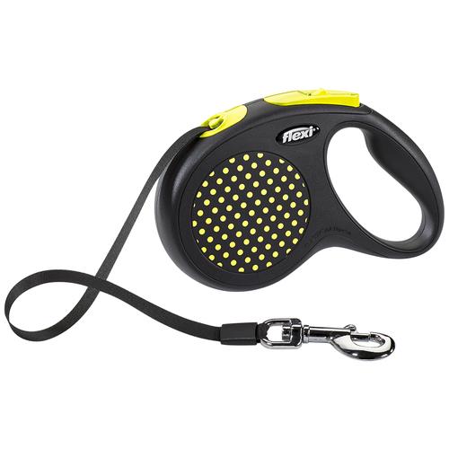 Фото - Поводок-рулетка для собак Flexi Design M ленточный желтый 5 м поводок рулетка для собак flexi black design m ленточный зеленый 5 м