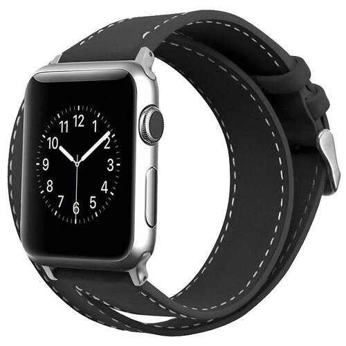 Cozistyle Double Tour Leather Band for Apple Watch 42/44mm черный