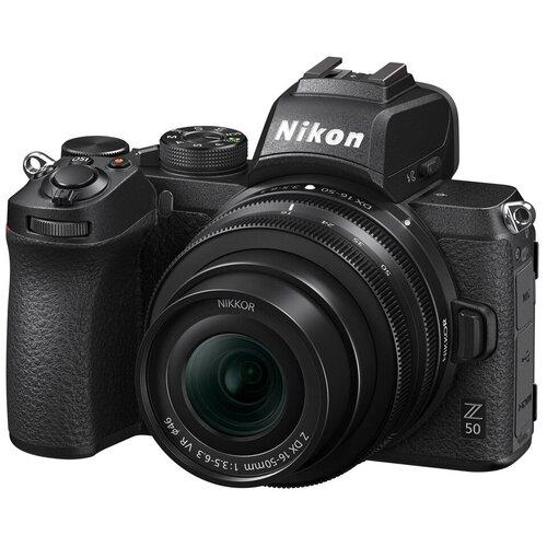 Фото - Фотоаппарат Nikon Z50 Kit черный Nikkor Z DX 16-50mm f/3.5-6.3 VR фотоаппарат nikon z5 kit 24 50 f 4 6 3 c адаптером ftz