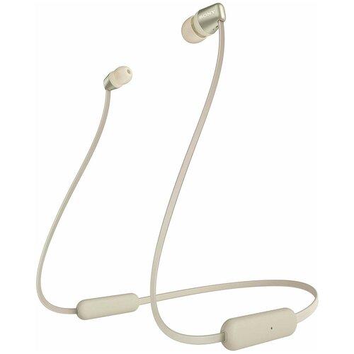 Беспроводные наушники Sony WI-C310, gold беспроводные наушники sony wi c310 white