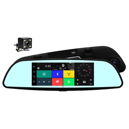Фото - Видеорегистратор TrendVision aMirror Slim, 2 камеры, GPS, черный видеорегистратор trendvision amirror 10 android 2 камеры gps черный