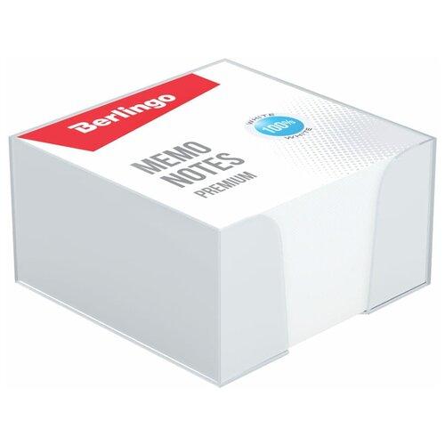 Berlingo блок для записи Premium 9 х 9 см, 500 листов, пластиковый бокс (ZP8607) белый
