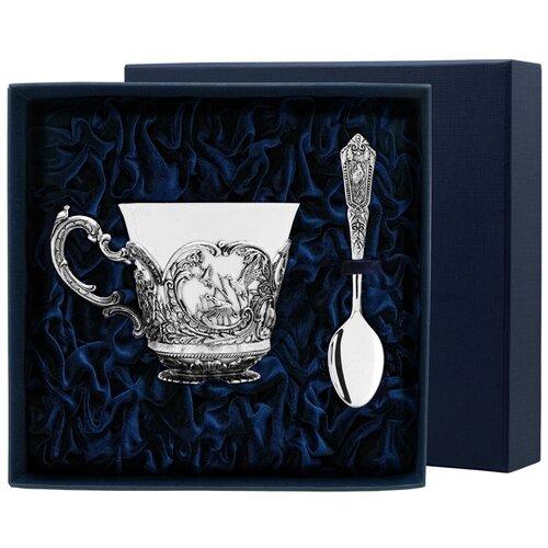 Фото - АргентА Набор чашка чайная Королевская охота+ ложка (2 предмета) аргента набор чашка чайная виноград ложка 2 предмета