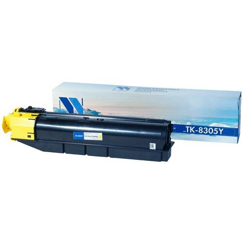 Фото - Картридж NV Print TK-8305 Yellow для Kyocera, совместимый картридж nv print tk 895 yellow для kyocera совместимый