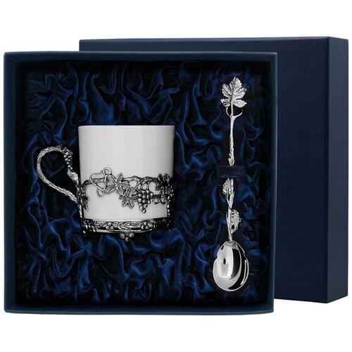 Фото - АргентА Набор чашка чайная Виноград+ ложка (2 предмета) аргента набор чашка чайная виноград ложка 2 предмета
