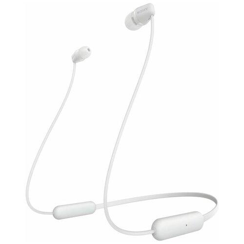 Беспроводные наушники Sony WI-C200, white беспроводные наушники sony wi c310 white