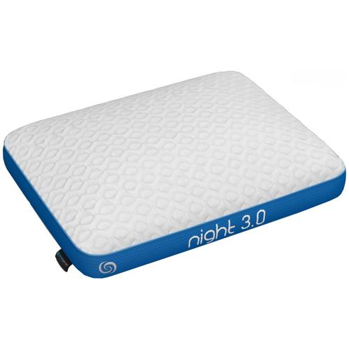Подушка Аскона Night 66 х 51 см белый/голубой