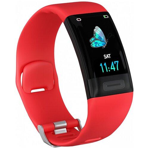 Умный браслет GSMIN E11, красный