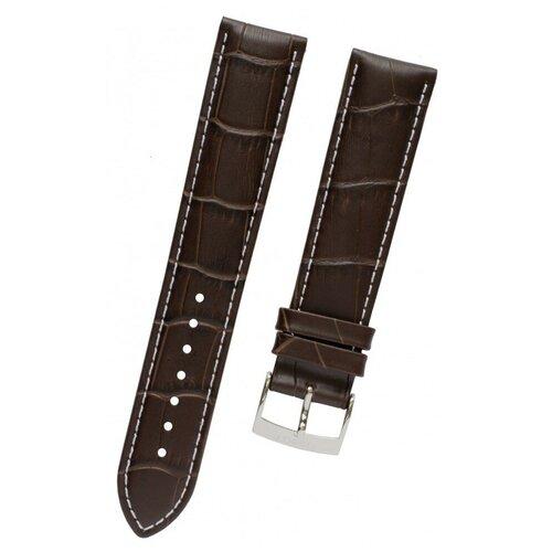 T600037057 Коричневый кожаный ремешок, теленок, имитация крокодила, стальная пряжка, 20/18 мм, для часов TISSOT T-Classic PR 100 T101.417 0 pr на 100